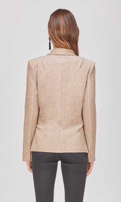 Alessa Lurex Tie-Front Blazer-Final Sale