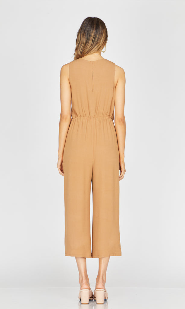 Margot Wrap-Tie Jumpsuit