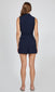 women's sleeveless navy romper