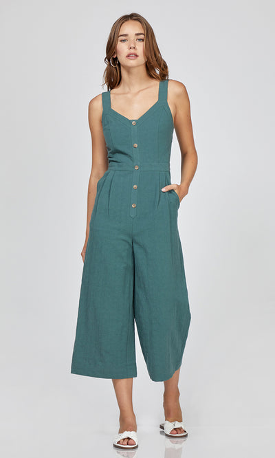 Lenox Button-Up Culotte jumpsuit