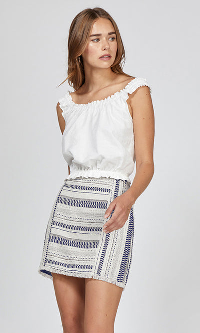 stripe tweed skirt