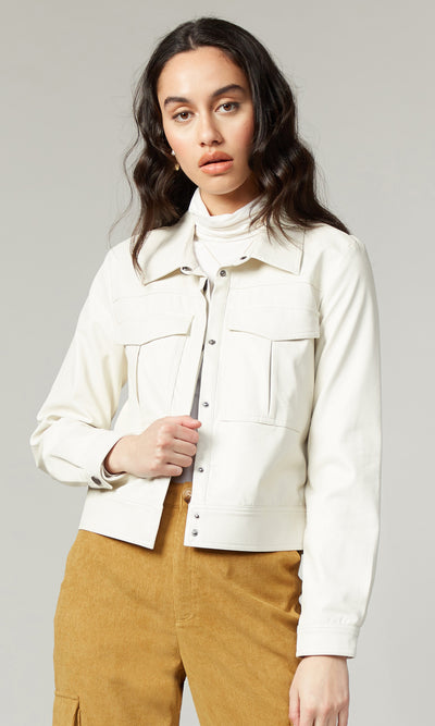 Greta Vegan Leather Jacket