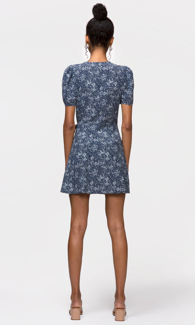 Danielle Pouf Sleeve Printed Dress