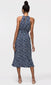 Women's navy midi dress