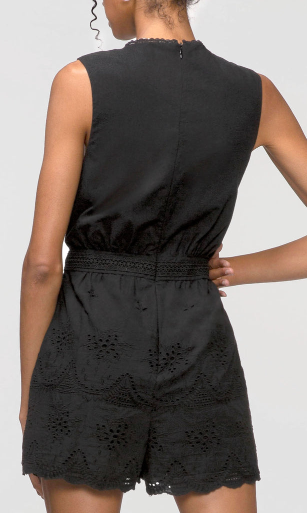 women's black romper