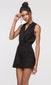 black wrap-over romper