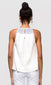 women's white flowy tank