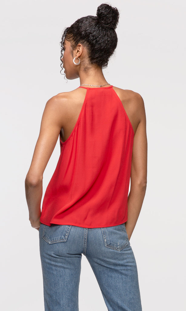 women's red cami