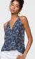 blue wrap-over cami