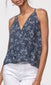 women's navy wrap over tank
