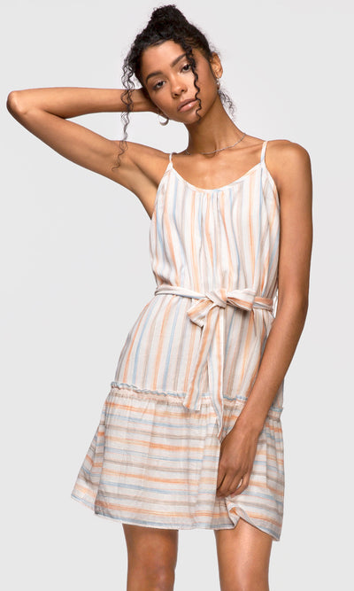 women's stripe cami dress