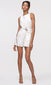 women's white sleeveless romper