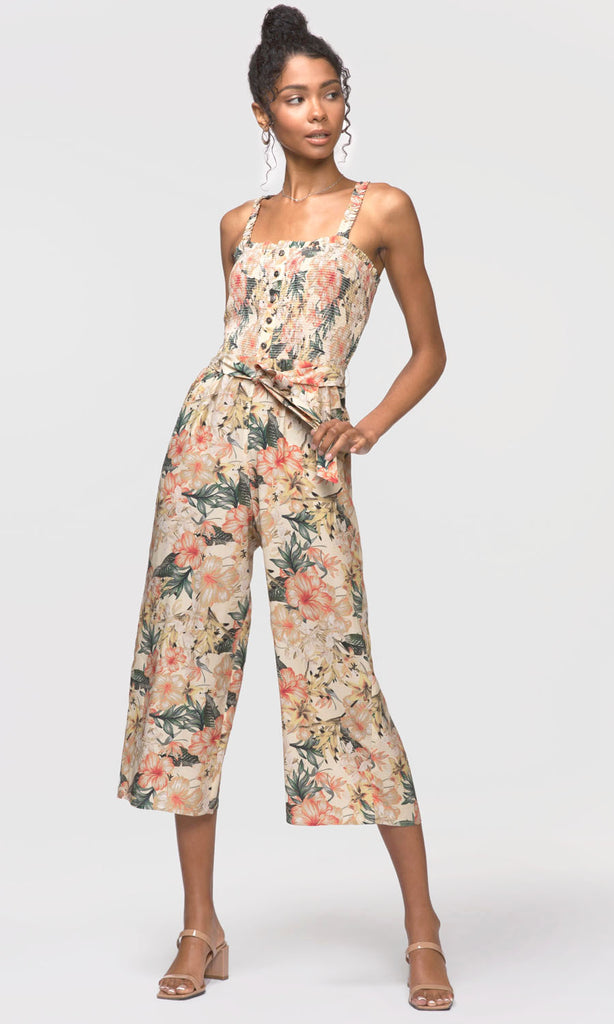 Faith Smocked Culotte Jumpsuit