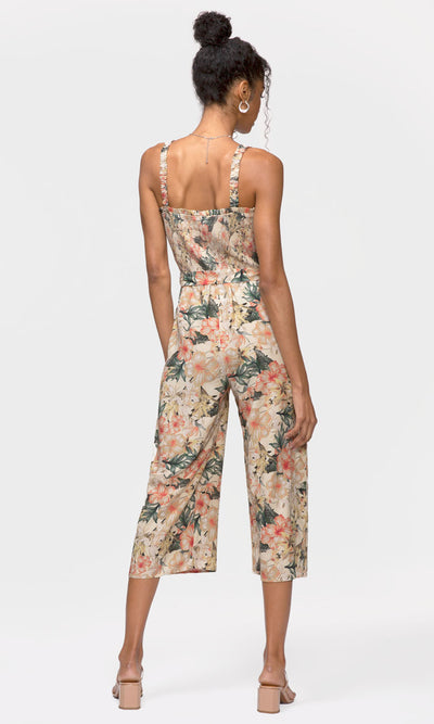 women's summer tie waist jumpsuit