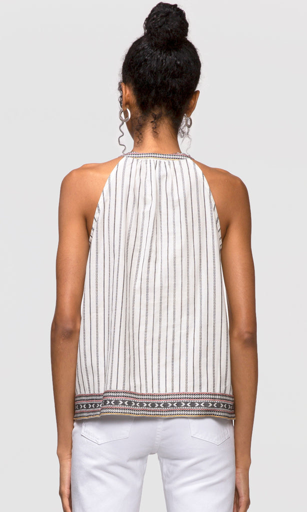 women's stripe halter top