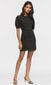 black pouf puffy sleeve mini dress