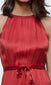 women's bright red halter maxi dress
