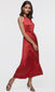 women's red fancy long dress