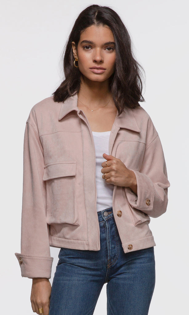 women's city chic pink suede jacket