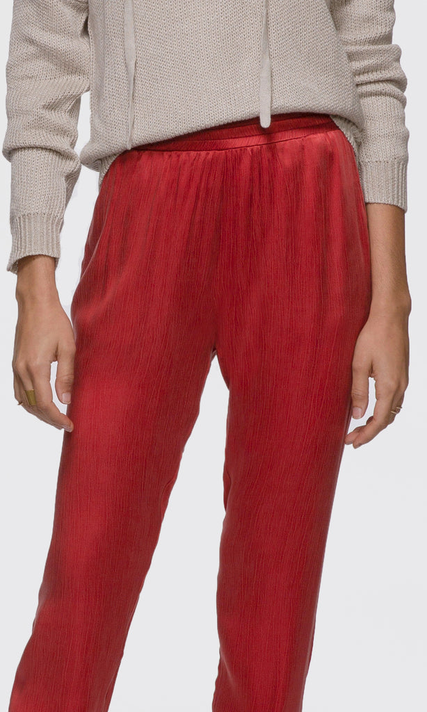 women's bright red comfortable pants
