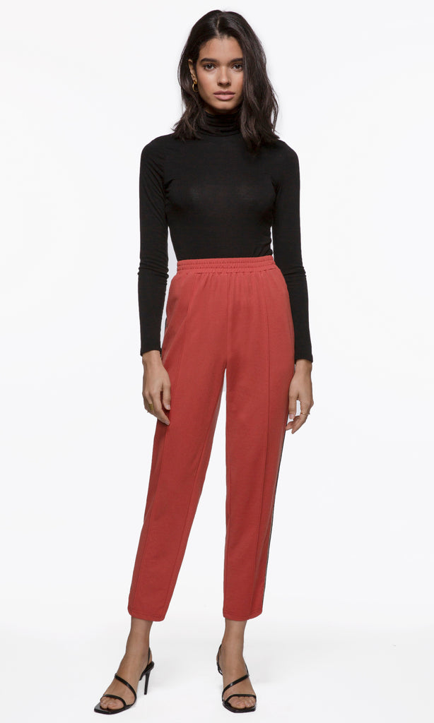 womens side stripe track pant