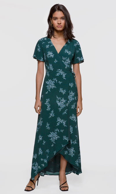 Anniston Wrap Floral Maxi Dress
