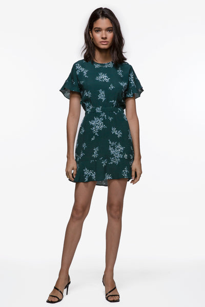 Polly Floral Ruffle Sleeve Dress