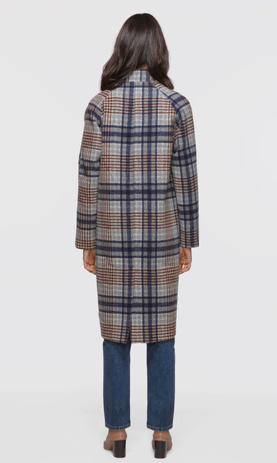 Austar Plaid Check Coat