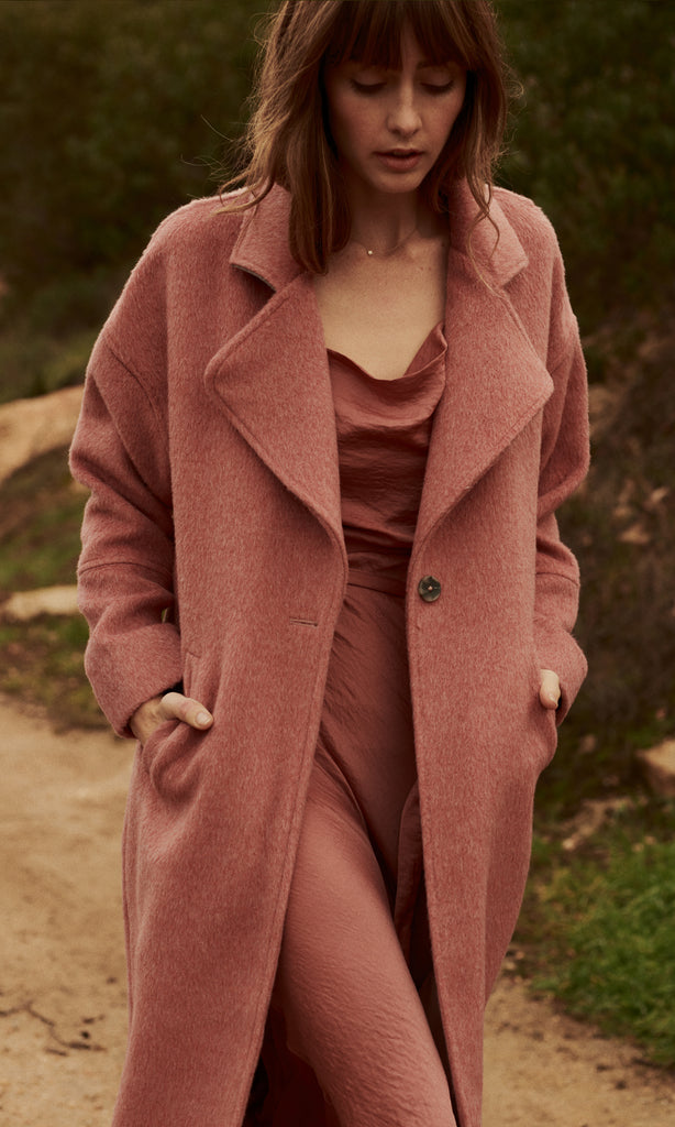women's pink winter coat