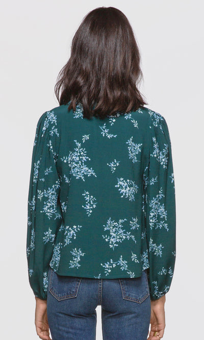 Astrid Wrap Front Floral Blouse