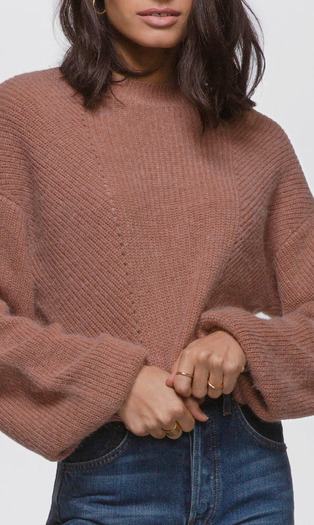 Lisa Ribbed Knit Cozy Sweater