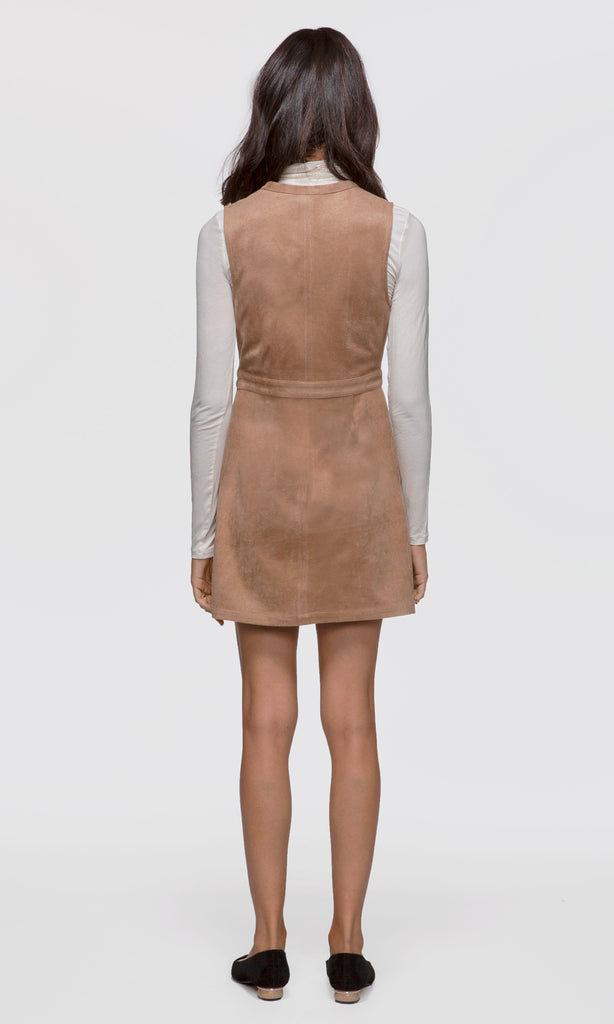Bianca Vegan Suede Neck-Tie Dress