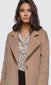 Bryce Brushed Viscose Fuzzy Coat