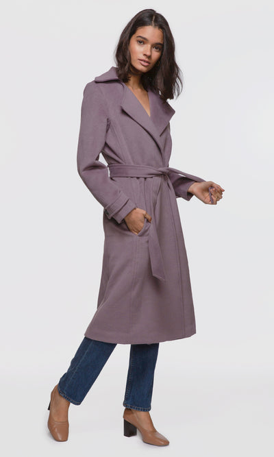 Lazara Tie-Waist Long Coat