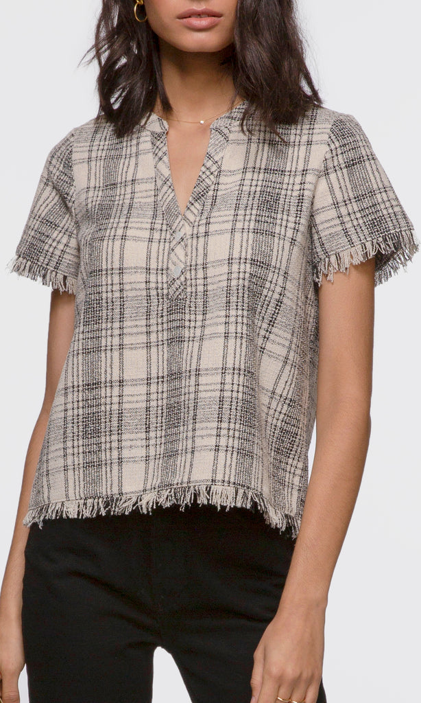 Marissa Tweed Fringe Edge Top