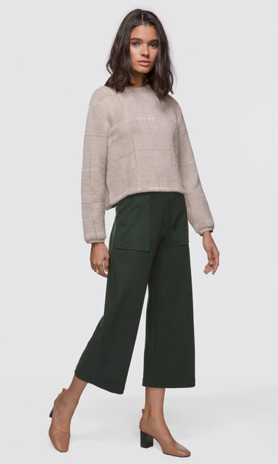 Mallory Herringbone Soft Knit Fuzzy Sweater