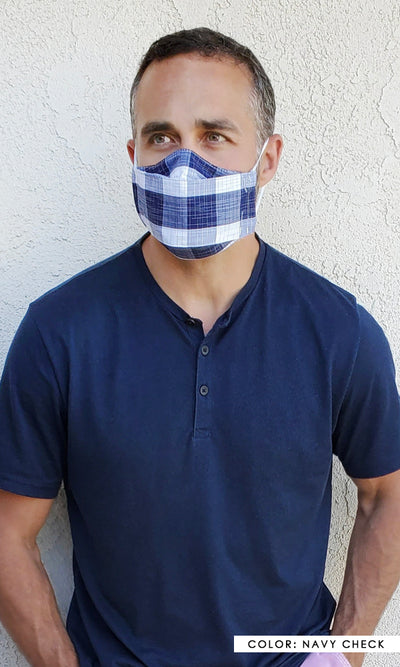 Breathable Reusable Cotton Face Mask - The Alex Mask | Greylin