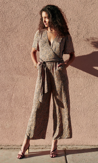 Neve Cross Front Jumpsuit w/ Self Tie