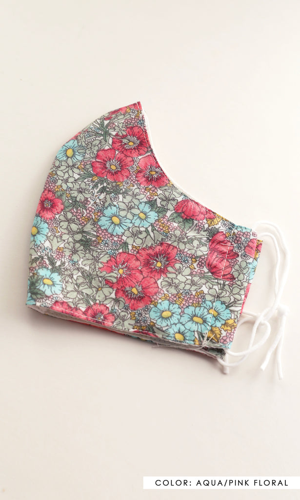 Flower Reusable Cotton Face Mask - The Dylan Reusable Face Mask