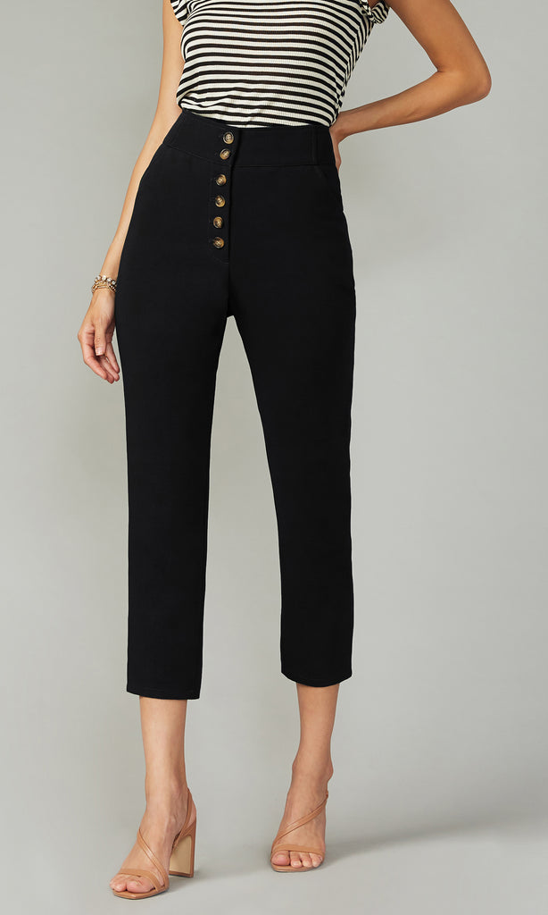 Lerraine Slim Button Front Pant