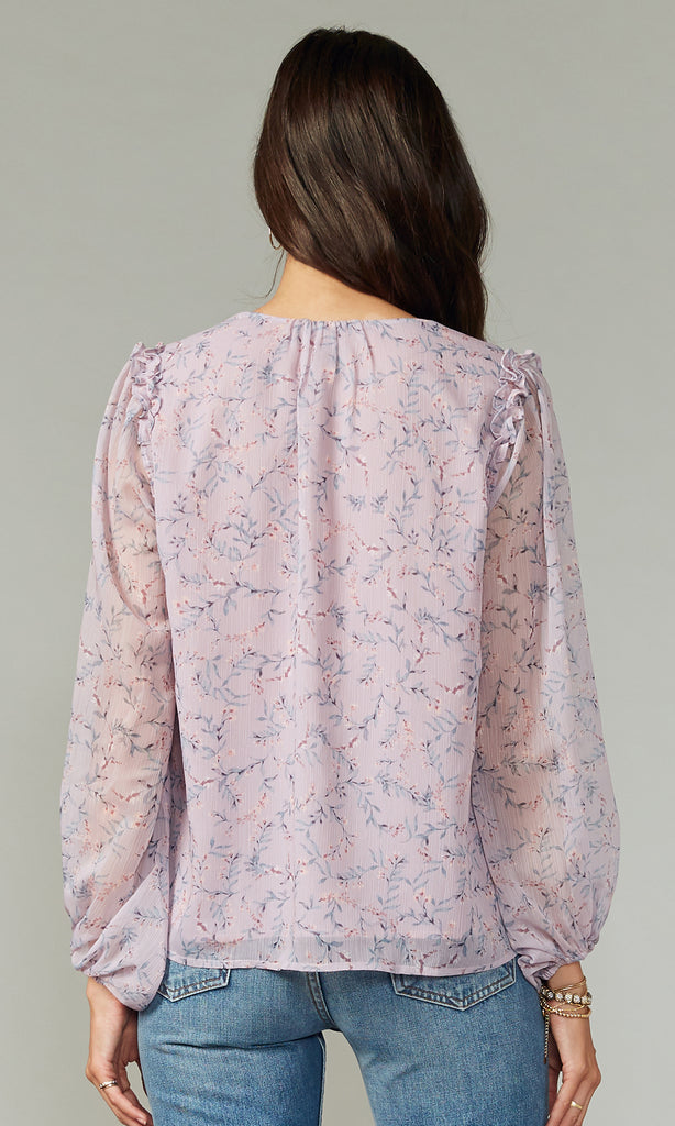 Cara Crinkled Georgette Blouse