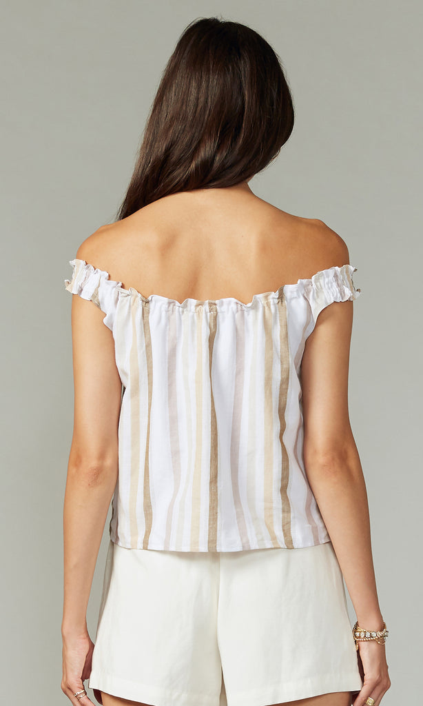 Layla Stripe Off Shoulder Top