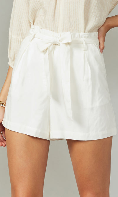 Holtz Tencel Linen Shorts With Tie