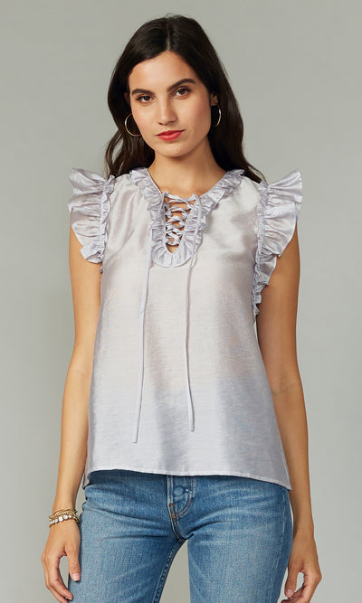 Kenzie Tencel Ruffled Top
