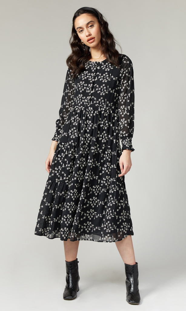 Wren Tiered Embroidered Dress