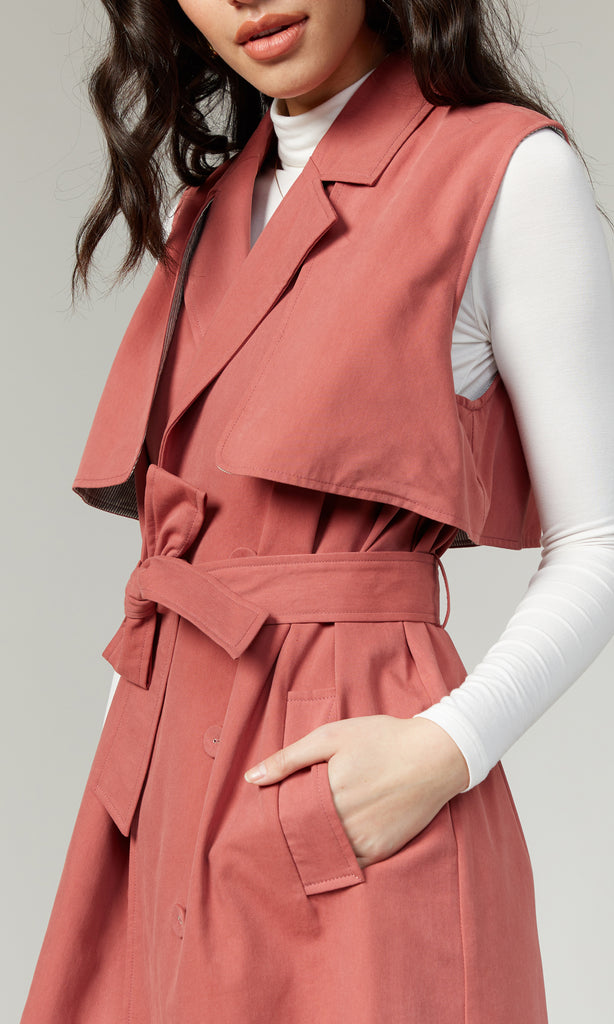 Ensley Tencel Trench Vest