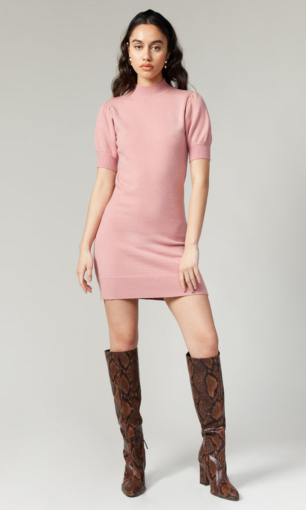 Vivienne Sweater Knit Pouf Sleeve Dress