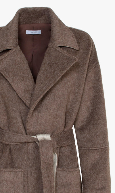 Taylor Brushed Robe Style Belted Coat