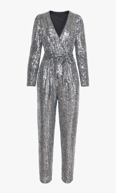 Besly Mini Sequins Jumpsuit