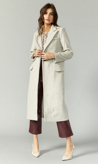 Ona Brushed Slim Coat